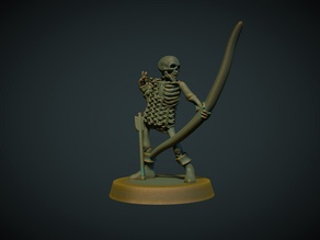 Skeleton Archer 28mm (no supports needed)