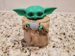 Baby Yoda with soup cup - remix