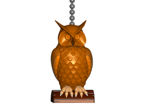 Stylized Owl Pull Ball Chain or Keychain Knob | Handle | Fob | Finials