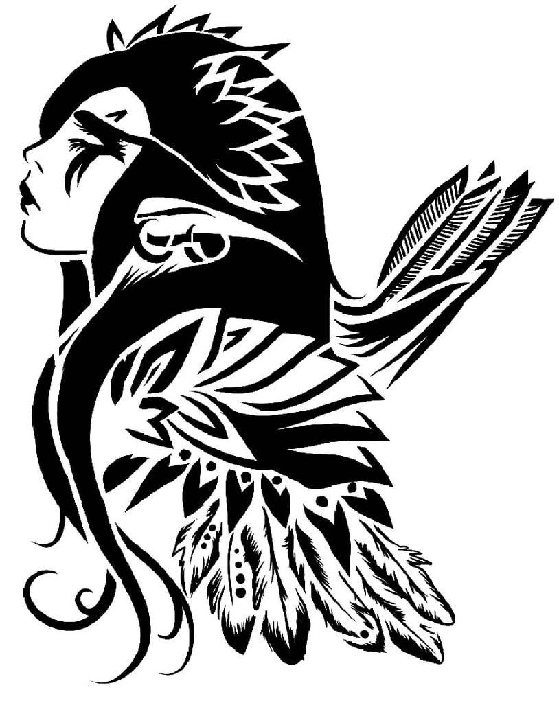 W.O.W Female Night Elf stencil
