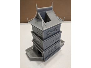 Dragon Dice Tower (resin printer split)