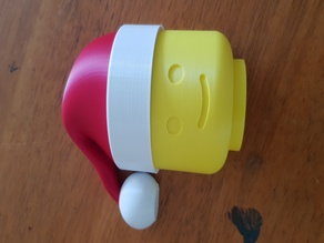Santa Hat for Lego Man Toilet Paper Holder Remix