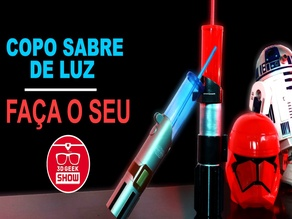 Copo Sabre de Luz / Lightsaber glass