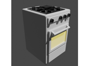 Gas stove scaled for 28mm tabletop terrain