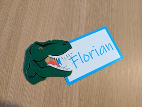 T-REX Name Tag - multicolor singleextruder