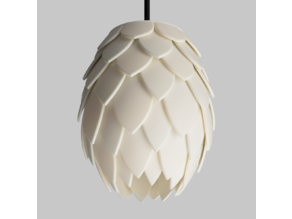 Dragon's egg lampshade (aka pinecone)