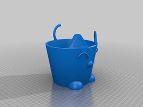 Cat Plant Pot - ROUND - 100mm pot fit