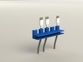 Desk Cable Holder - Customizable
