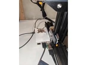 Raspberry Pi 3B+ case for Ender 3 dual rail Octoprint W/ Fan Remix