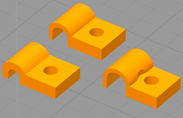 Cable clips for 10 x 10 system
