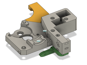 Modified Y_Carriage with integrated BMG extruder for Railcore II