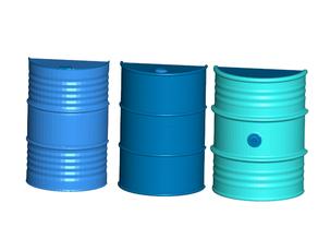Oil Drum Refrigerator / Whiteboard Magnets