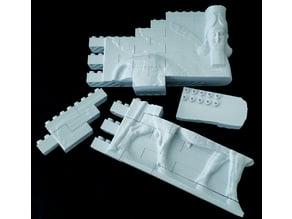 Montini Lamassu Winged Bull Wall Set (Lego Compatible)