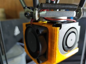 Mellow NF-Crazy hotend 4010 axial + 2 blower fan mount(should work with Mosquito hotend too)