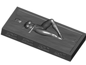20th Carbonite Encased Sexy Woman w/ Optional Control Panels and 2 Stands