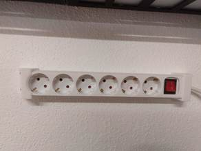Wall mount for power strip