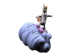 SandyCheeks Clam surfing
