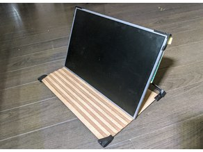 LCD Panel stand and folding cover
