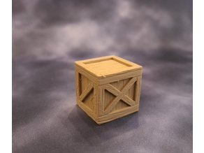 DnD Wooden Crate Prop
