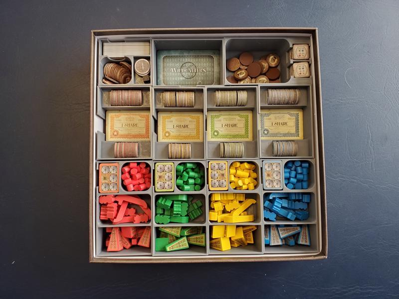 Wildcatters Board Game Insert