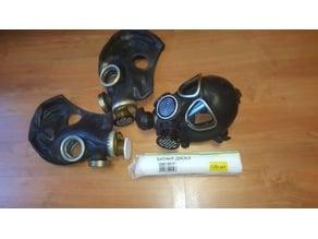 GasMask Respirator Cosmetic Disc Adapler 40mm