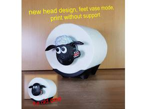shaun the sheep V2 - new face - toilet roll - easy print