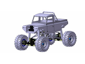 1/10 Fully printable LAND ROVER SERIES II