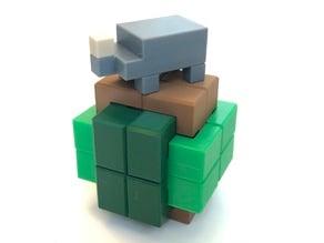 Rhinoceros - Interlocking puzzle by Alfons Eyckmans