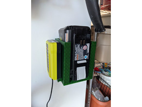 Ryobi lawnmower battery holder