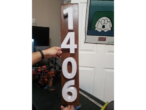 Large House Numbers 1406 + Numbers 0-9