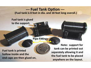 Stand Alone 8 Foot X 18 Foot Fuel Tank --- N Scale