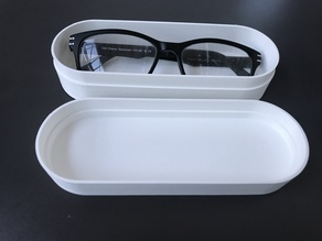 Customizable glasses case / rounded box with lid