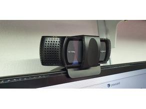 Logitech C920 webcam privacy slide cover clip