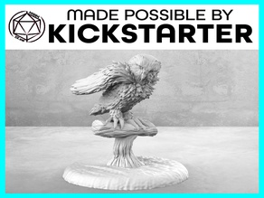 Owl - Action Pose - Tabletop Miniature