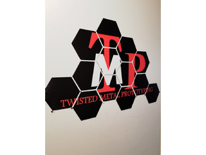 Tmp hex wall sign