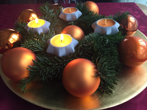 Star Tee Candle Holder for Advent Wreath