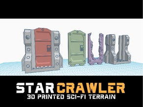 Star Crawler Terrain: Air Lock Doors (Zombicide Invader, Kill Team, Necromunda, Fallout Wasteland Warfare, Star wars Legion Space Hulk)