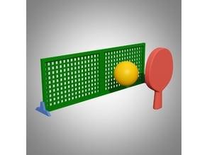 Mini table tennis play