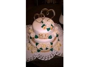 Wedding Hearts Cake Topper