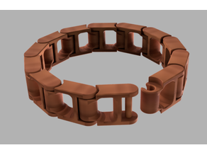 Print-In-Place Chain Link Bracelet
