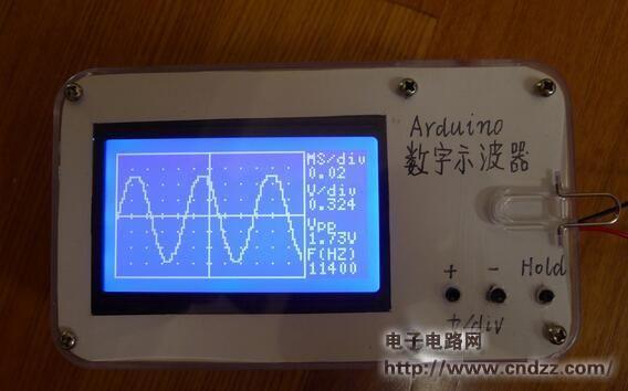 Make a digital oscilloscope via arduino by james seeed