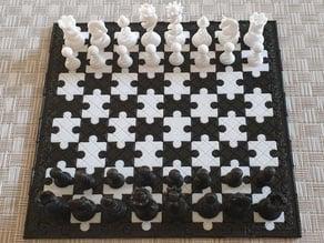 Tablero puzzle ajedrez