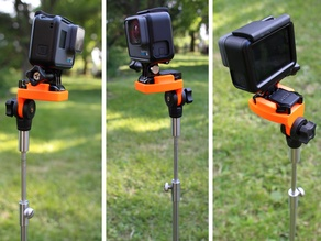 GoPro holder adapter for fishing bankstick