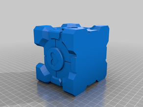 Post-It Companion Cube - Separated for Easier Printing