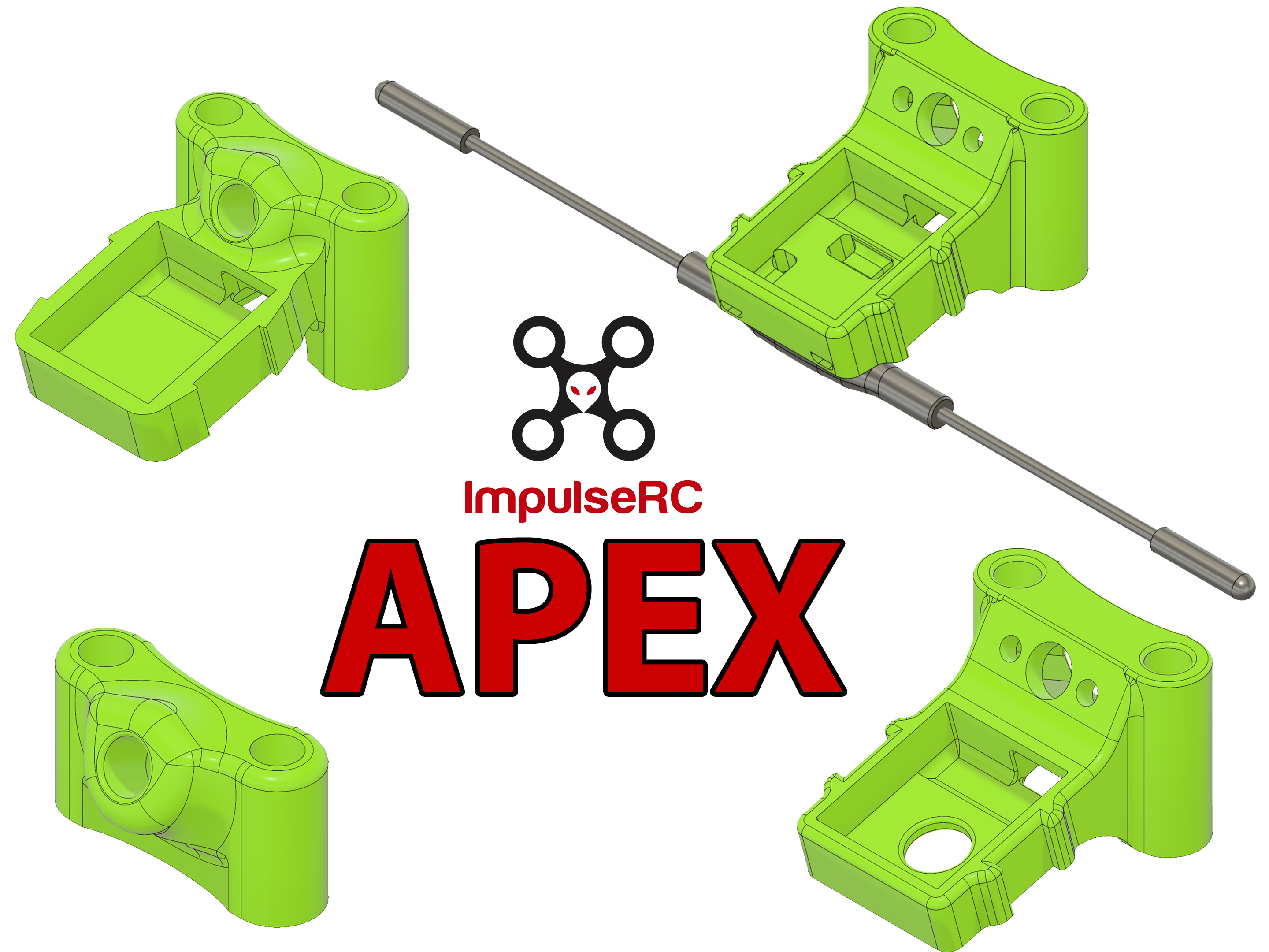 ImpulseRC APEX Antenna Mount + GPS (M8N) + Crossfire