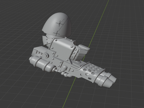 One handed Heavy Flammer (Poseable)