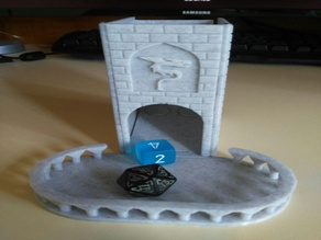Small Foldable Dice Tower