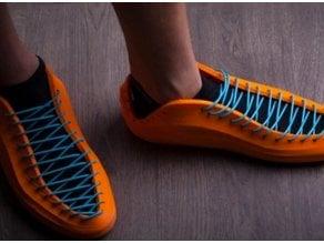 modern 3D printed sneakers