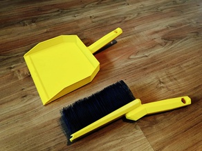 Dust Brush & Pan (Fully 3D Printable)