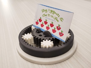 Planetary Gear Business Card Holder